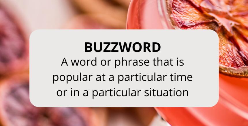 üzleti angol buzzword